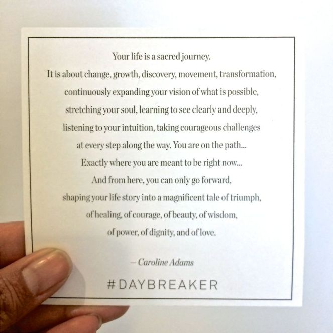 Daybreaker Quote