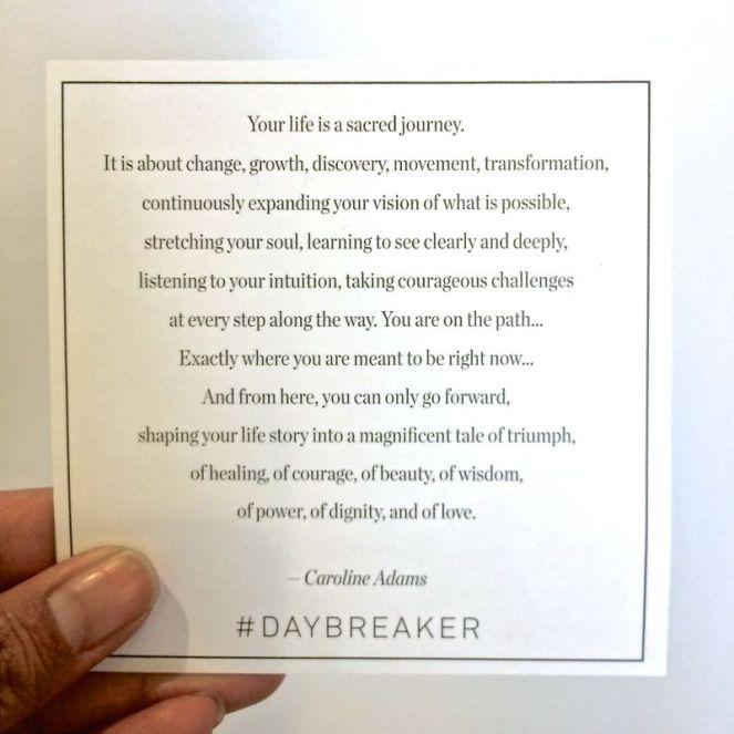 Daybreaker Quote